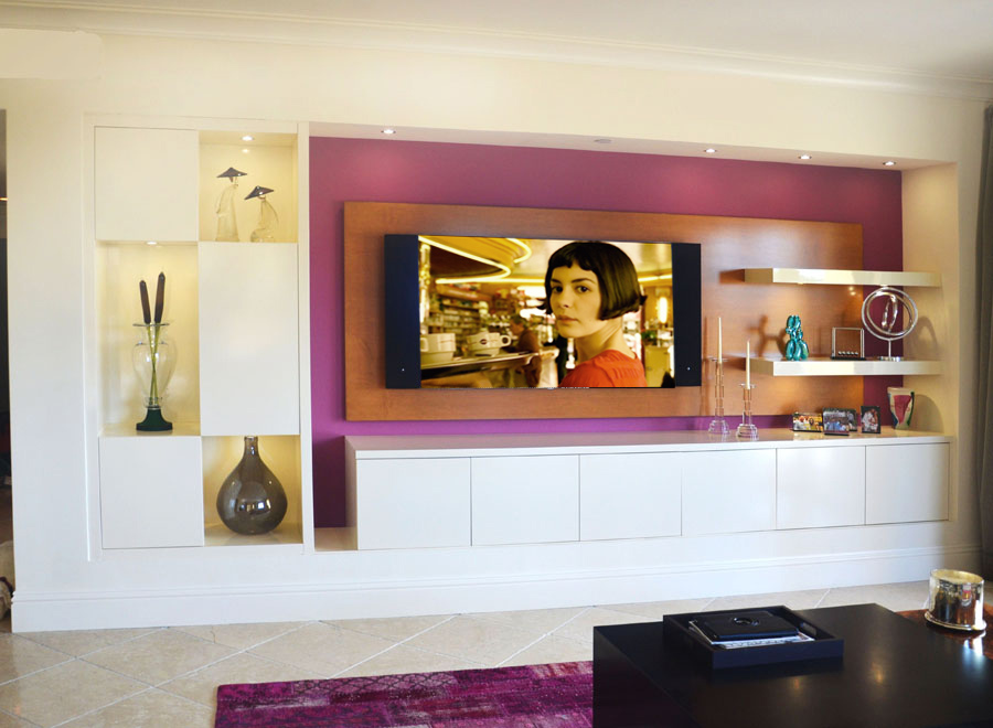 Contemporary Built-in Wall Unit