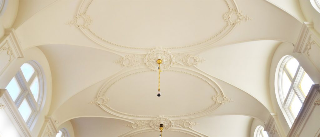 Ornamental Vaulted Ceiling 25'H x 20'W x 45' L