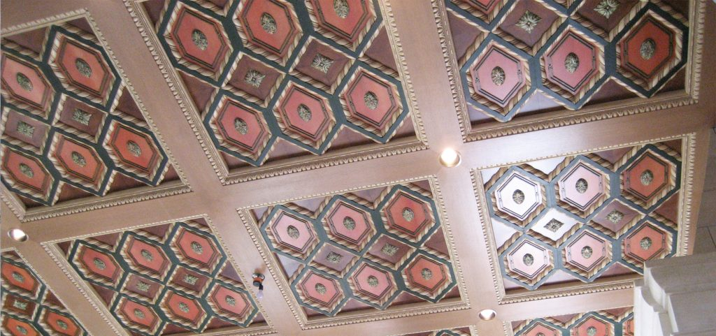 Custom Coffered Ceiling 30' x 36' x 22' H