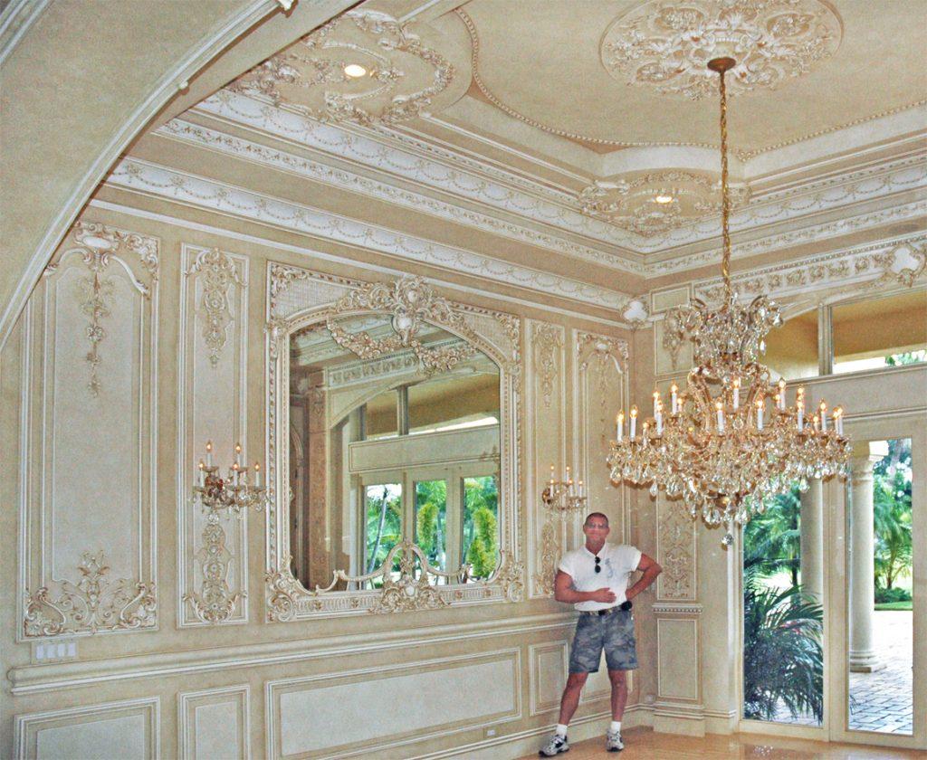 Custom Dining Room Mirror as part of Boiserie Room
